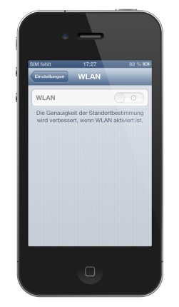 iPhone wlan grau defekt